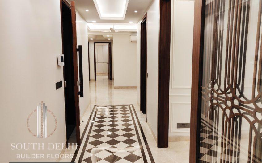 4bhk builder floor, third + terrace garden, greater kailash-2